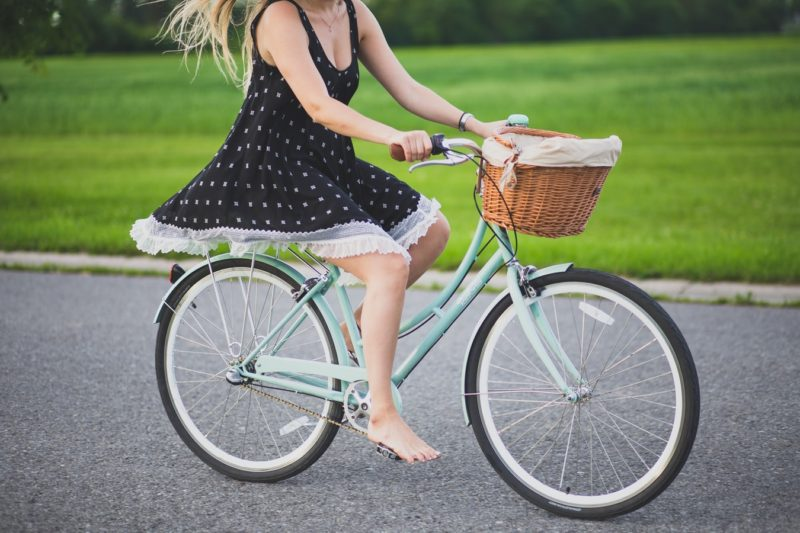 girl on a bicycle